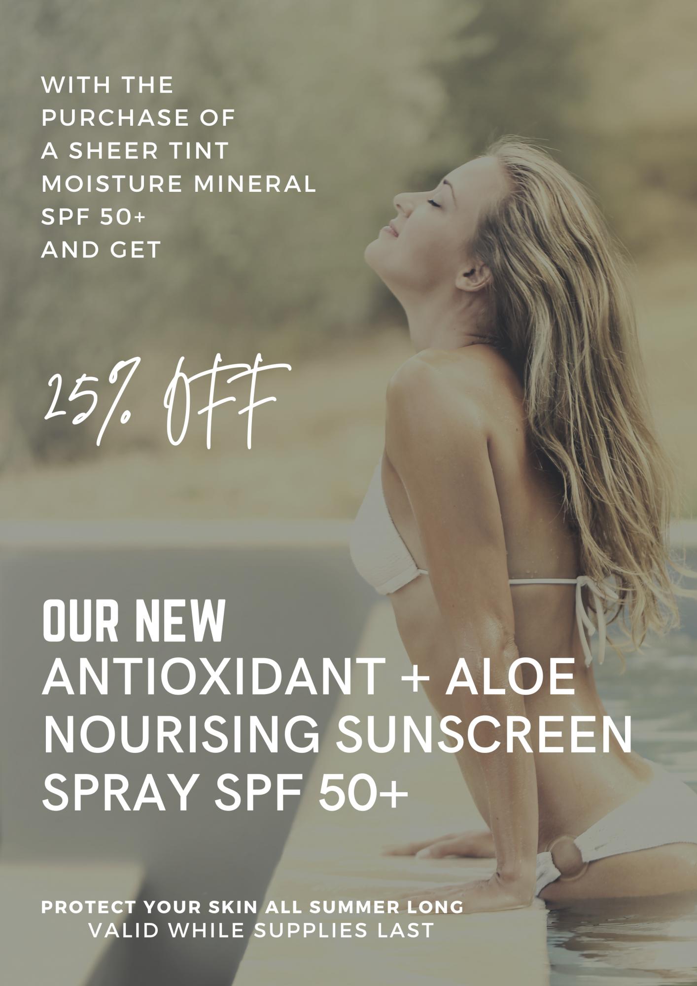 Aesthetic Plastic Surgery Summer Special - Aloe Nourishing Sunscreen Spray